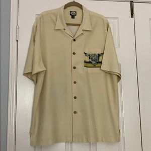Tommy Bahama Yellow Pelican Cigar Shirt